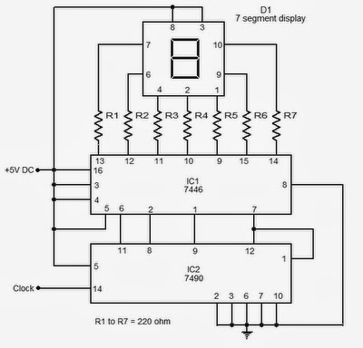 Static 0 To 9 Display 7 Segment Ic7446 on led wire diagram