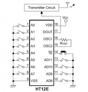 HT12E-practical-application-circuit