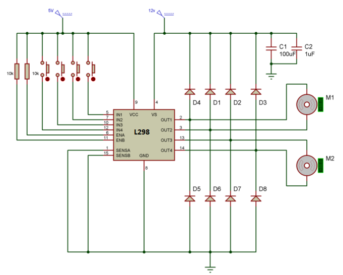 bidirectional-motor-controller-circuit-l298-ic