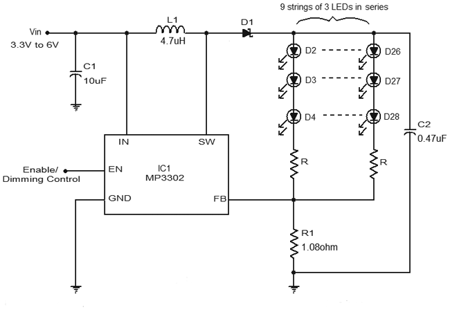 led driver circuit diagram using mp3302 gadgetronicx rh gadgetronicx com led driver circuit diagram pwm dimmable led driver circuit diagram