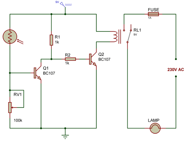 Automatic-night-lamp-circuit-using-LDR