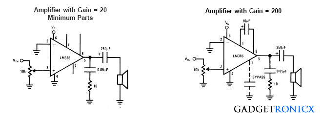 Sample-circuits-lm386-ic