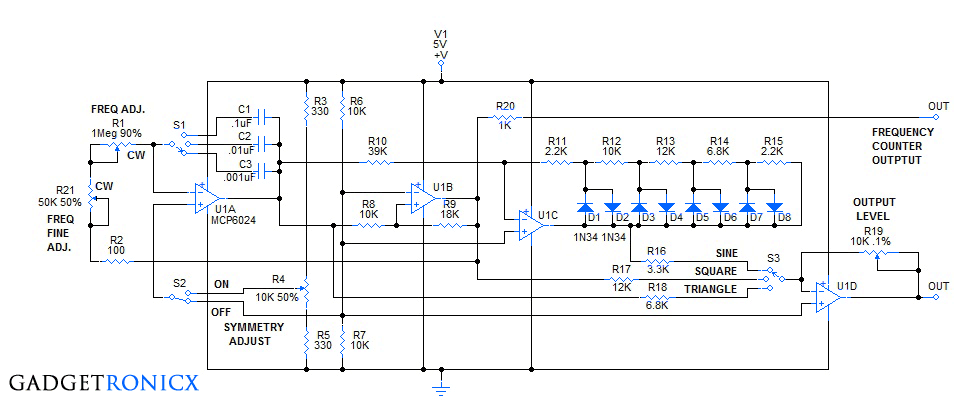 Advanced Function generator circuit using Quad Op-Amp IC ...