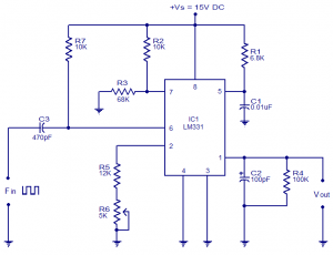 Frequency-to-voltage-convertors-circuits