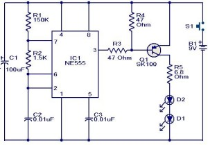 Infrared-transmitter-circuit-remote-controller