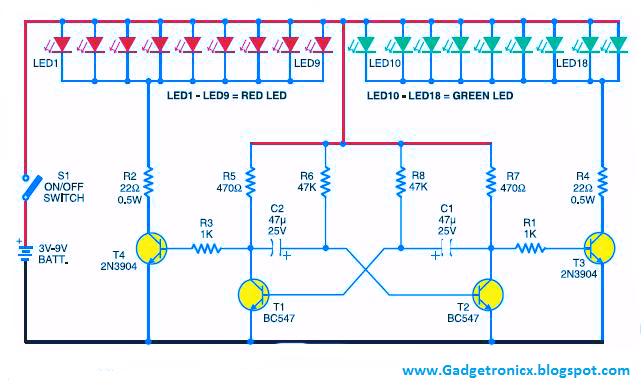 led christmas lights using transistors gadgetronicxled christmas lights using transistors