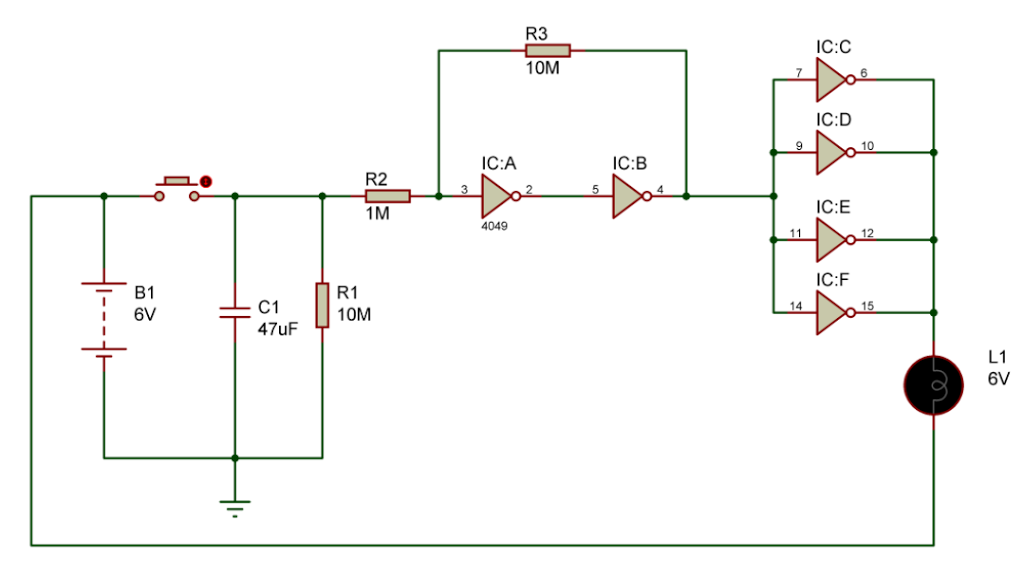 under-cupboard-lighting-circuit-using-cd4049-ic
