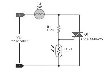Automatic Lamp Dimmer Circuit using Triac - Gadgetronicx on