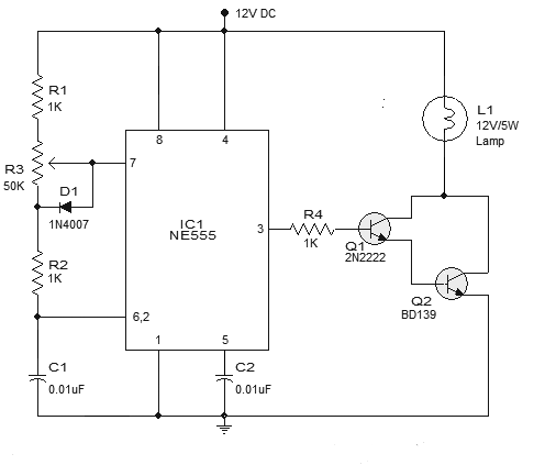 Remarkable Lamp Dimmer Circuit Using Ic 555 Gadgetronicx Wiring Cloud Hisonuggs Outletorg