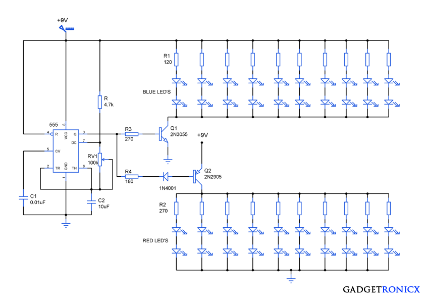 attractive led lighting circuit diagram gadgetronicxled lighting circuit diagram ic555