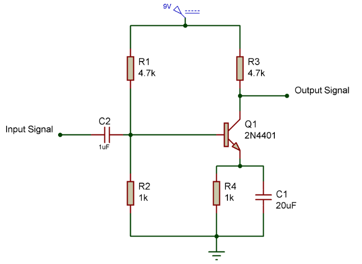 amplifier-circuit-using-transistor-design-calculations