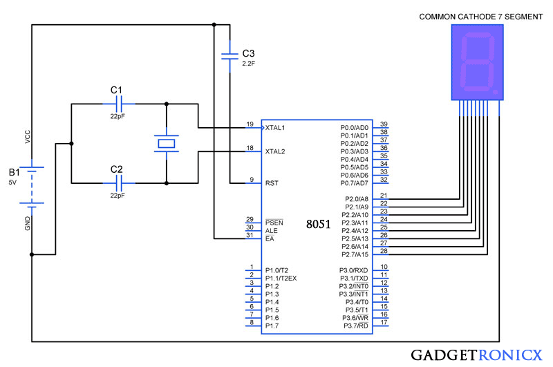 7-segment-interfacing-with-8051-microcontroller
