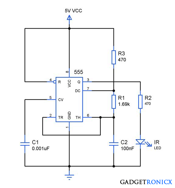 Infra-red-IR-remote-jammer-circuit-ic-555-astable-multivibrator