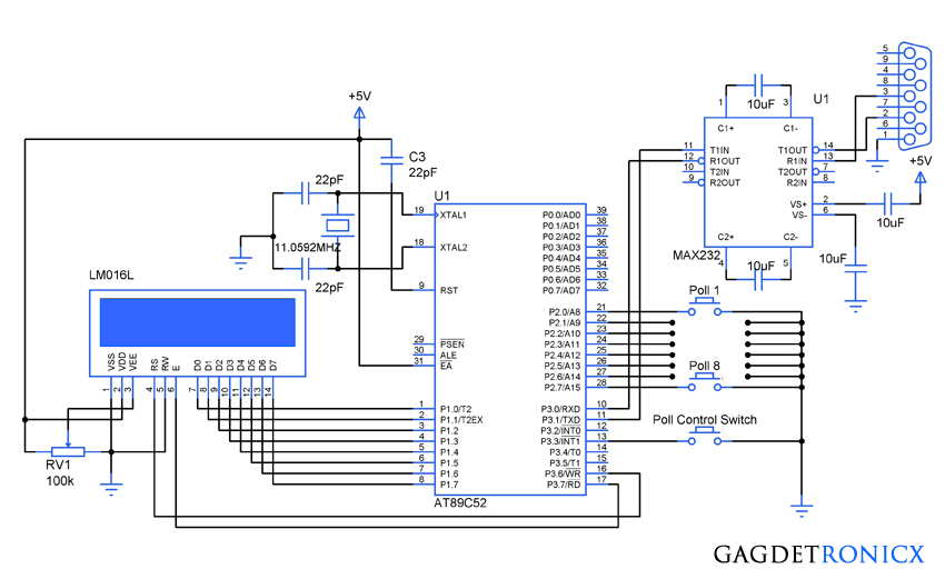 simple voting machine using 8051 microcontroller gadgetronicx