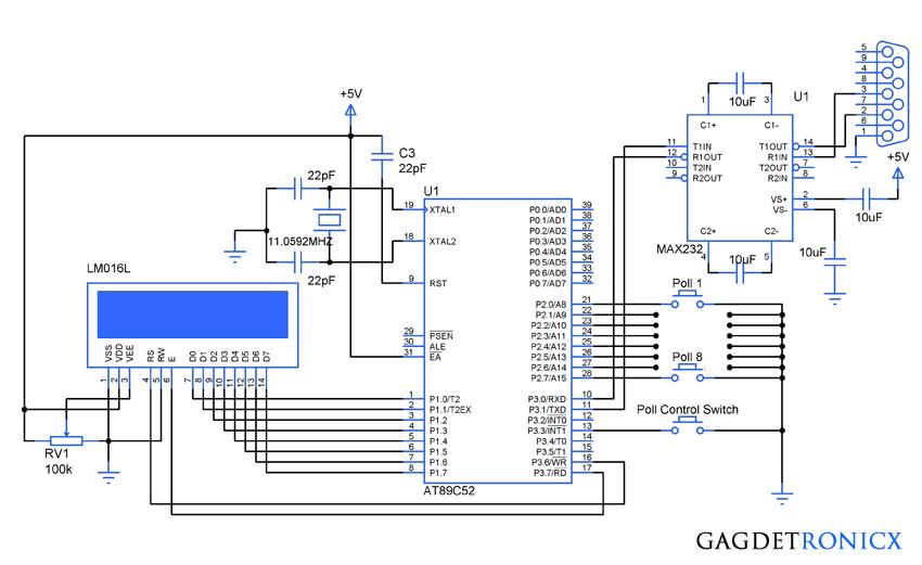 voting-machine-using-8051-microcontroller-circuit-diagram